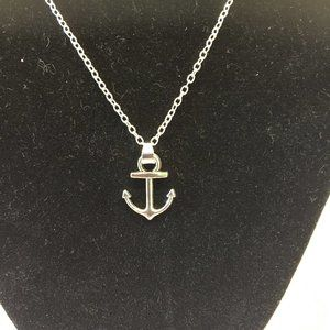 """Silver-toned ANCHOR pendant on 18"""" chain"""